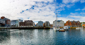View of a marina in Tromso, North Norway Stock Photos