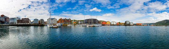 View of a marina in Tromso, North Norway Royalty Free Stock Photography