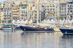 Yachts in the marina  Stock Photography