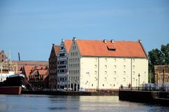 View of the Maritime Museum in Gdansk Royalty Free Stock Photos