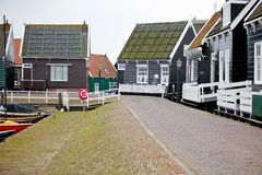 View of Marken houses Royalty Free Stock Image