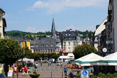 View of the market square in Mayen Royalty Free Stock Photo
