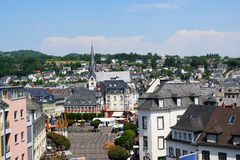 View of the market square in Mayen Stock Photography