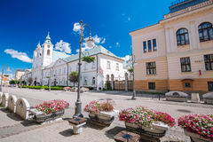 View of the marketplace in Rzeszow. Poland Royalty Free Stock Photo