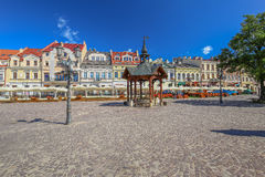 View of the marketplace in Rzeszow. Poland royalty free stock photography