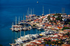 View of Marmaris harbor on Turkish Riviera Royalty Free Stock Images
