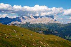 View from Marmolada mountain, Alps, Italy Stock Photo