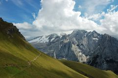 View on Marmolada peak. Royalty Free Stock Images