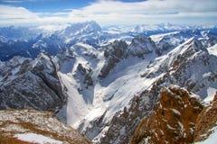 View from Marmolada peak Royalty Free Stock Image