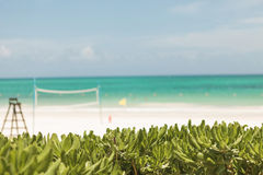View of the maroma beach in  Mexico. Stock Image