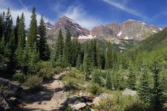 View of Maroon Bells Wilderness in Colorado Stock Image