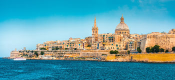 View of Marsamxett Harbour and Valletta Stock Image