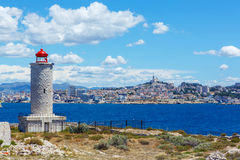 View on Marseille from Chateau d'If,  France Royalty Free Stock Image