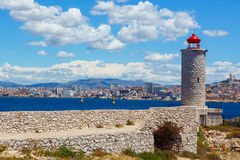 View on Marseille from Chateau d'If,  France Royalty Free Stock Photography
