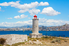 View on Marseille from Chateau d'If,  France Royalty Free Stock Images