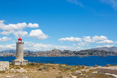 View on Marseille from Chateau d'If,  France Stock Image