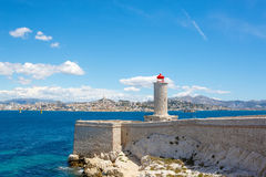 View on Marseille from Chateau d'If,  France Stock Photos