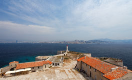 View of Marseille (France) from If island. Royalty Free Stock Images
