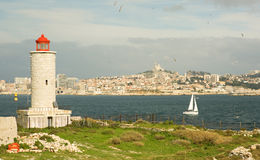 View of Marseille from If island Stock Photo
