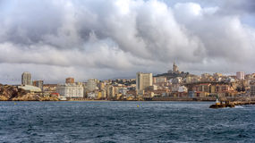 View of Marseille from Mediterranean Sea - France Stock Photography