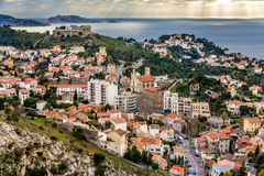 View of Marseille and the Mediterranean sea Stock Image