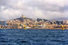 View of Marseille from Mediterranean Sea Royalty Free Stock Photo