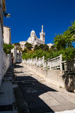 View of Marseille with Notre-Dame de la Garde basilica Stock Photos