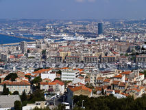 A view on Marseilles city in France Royalty Free Stock Image