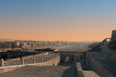 VIEW OF MARSEILLES, FRANCE. The view from D'Entrecasteaux the fort to the port of Marseilles Stock Images