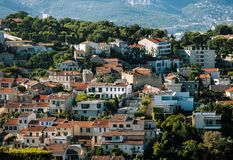 View of Marseilles old city. And red roofs. France Royalty Free Stock Image