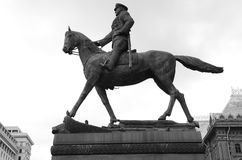 Horse Monument - Marshal Zhukov Statue, Moscow stock images