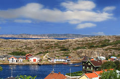 View from Marstrand castle stock photos