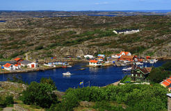 View from Marstrand castle Royalty Free Stock Photography