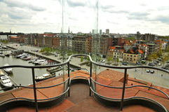 View from MAS, Antwerp Stock Image