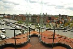 View from MAS, Antwerp. View outside from  Museum Aan de Stroom, Antwerp Stock Image