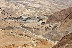 View from Masada Cablecar Royalty Free Stock Photo