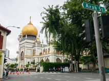 Masjid Sultan or Sultan Mosque View from Arab Street stock photos