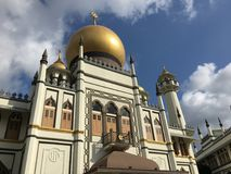Masjid Sultan mosque in singapore during day. View of Masjid Sultan mosque in singapore daytime stock photos
