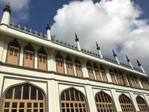 Masjid Sultan mosque in singapore during day. View of Masjid Sultan mosque in singapore daytime royalty free stock images