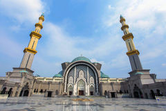 View of Masjid Wilayah Kuala Lumpur during blue sky. Stock Photo