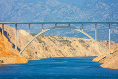 View from the Maslenica Bridge Stock Images