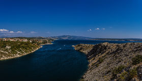 View from Maslenica Bridge of Croatia Royalty Free Stock Photo