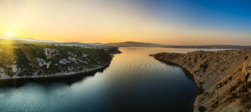 View from Maslenica Bridge of Croatia Stock Photo
