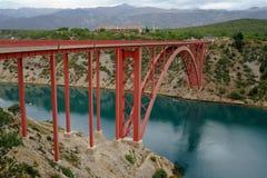 View at Maslenica bridge. Stock Photos