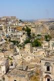 A view of Matera in Basilicata, Italy Royalty Free Stock Photos
