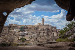 View of Matera in Basilicata, Italy Stock Images