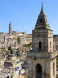 View of Matera, Italy. A view over the sassi district of Matera in Italy's southern region of Basilicata Stock Photo