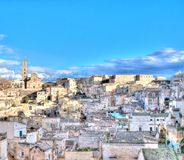 View of Matera, Italy, UNESCO Royalty Free Stock Image