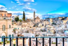 View of Matera, Italy, UNESCO Royalty Free Stock Photos