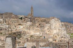 View of matera UNESCO world heritage site Royalty Free Stock Images